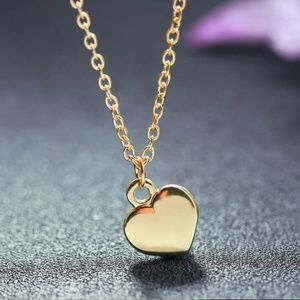 Classic Dainty Gold Heart Pendant Necklace